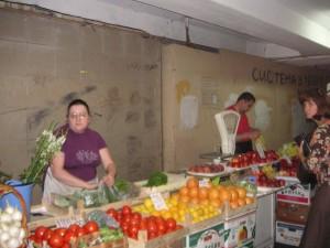 Market in an underground pedestrian crossing