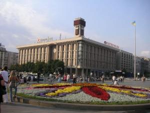 Colourful central Kiev